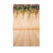 Flower Wood Wall Floor Vinyl Photography Backdrop Photo Background Studio Props