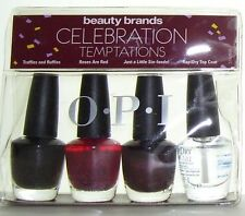 OPI NAIL POLISH CELEBRATION TEMPTATIONS MINI SET 3.75ml NL TRUFFLES ROSES Sin-fa