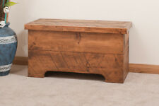 SOLID  RUSTIC SAWN PLANK BLANKET BOX CHEST | HANDMADE | OTTOMAN | HAND WAXED