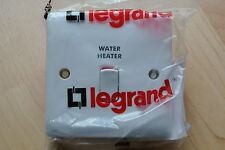 legrand Synergy 7301 12 20A 1G DP switch marked Water Heater + power ind white