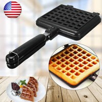 US Nonstick Waffle Egg Pan DIY Egg Bubble Maker Baking Mold Plate Kitchen Tool