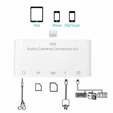 5in1 Lightning Audio camera connection kit TF SD card reader 3.5MM for Iphone 7