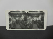 Antique Stereoview Card Sears Roebuck & Co. #44 Great Restaurant Refrigerator