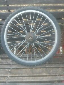 """24"""" × 1.95"""" ShunFeng Alloy Mountain Bike Bicycle Wheel and WD Tire. Good  Used"""