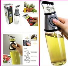 Aceite De Oliva & Dispensador de vinagre botella con Press & medida RRP £ 19.99 Free P&p