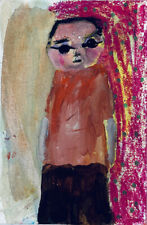 Hold My Beer Original Outsider Art Painting Katie Jeanne Wood