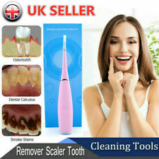 Electric Ultrasonic Tooth Cleaner Dental Stain Polisher Plaque Tartar Remover PK