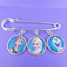 Falda escocesa de Pin Broche Navidad de Disney Frozen Elsa Anna Copo De Nieve Olaf adorable Niñas Regalo