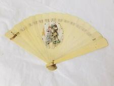 Antique Folding Hand Fan Victorian Celluloid