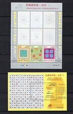 China Macau 2015  S/S Science and Technology - Magic Squares II stamp set