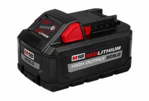 Milwaukee 48-11-1880 M18 Redlithium High Output 18V 8.0Ah Battery