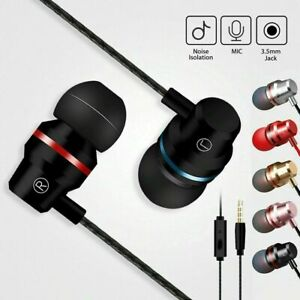 3.5mm In-Ear Earbuds Earphone Headphone for iPhone PC MP3 MP4 UK