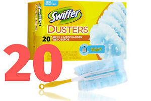 20  Swiffer Duster Disposable Unscented Cleaning Dusters Magnet Wiping Refills