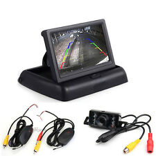 Wireless Car Reverse Rear View Backup Night Vision Camera Kit+ TFT LCD Monitor