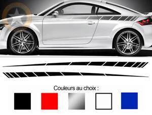 2 X BANDES GRAPHIQUE POUR AUDI BMW STREET RACING AUTOCOLLANT STICKER BD518