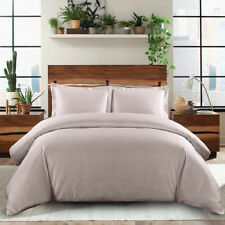 Silky Luxury Soft Duvet Cover Set 100% Cotton 600 Thread Count 3 Available Sizes