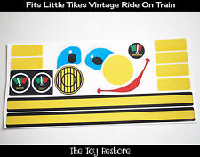 Replacement Decals Stickers fits Little Tikes Tykes Vintage Ride On Train Engine