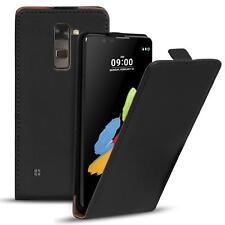 Flip case lg stylus 2 funda PU Cuero Funda plegable bolsa celular Cover negro