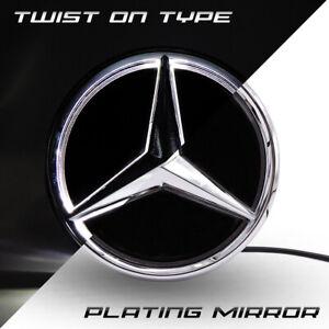 Mirror Car Led Star Front Logo Emblem Grille Light For Mercedes Benz Twist Type