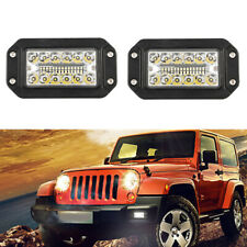 6 INCH 78W Flush Mount LED Light Spot&Flood Beam Offroad Truck Car Fog DRL Lamp