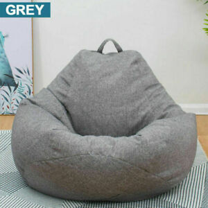 Large Bean Bag Cover Couch Sofa Chair Lazy Lounger Cover Adult Kids More Color