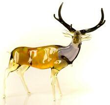 "Deer Brown, Figurine, Blown Glass ""Murano"" Art Sculpture. Made in Russia"