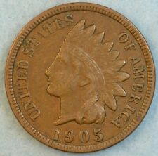 1905 Indian Head Cent Penny Liberty Very Nice Vintage Old Coin Fast S&H 78070
