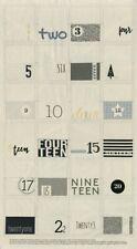 Zen Chic White Christmas Advent Calendar Panel & Contrasting Fabric. Moda Fabric