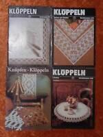 4 x DDR Vorlagen Klöppeln - Verlag für die Frau -Vintage