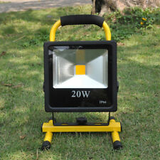 LED Flood Light Portable 10/20W Cool Warm White Rechargeable Floodlight Outdoor