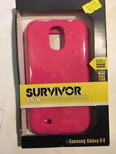 Samsung Galaxy S4 Survivor Heavy Duty Tough Protector Skin Case in Pink GB37918.