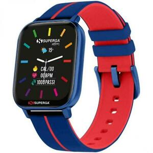 Smartwatch SUPERGA SW-STC001 Silicone Blu Rosso TOUCHSCREEN NEW