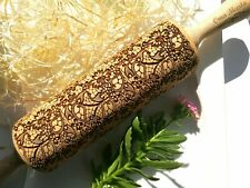 Engraved Textured Rolling Pin Embossed Dough Roller Carved Rolling Shortbread