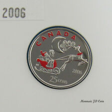 2006P Canada 25 Cent Holiday Rudolph Coloured From Set