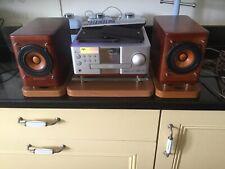 Nice Retro JVC CA-EXP1 Micro Hi-Fi DVD Receiver SP-EXP1  Wood Cone Speakers