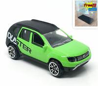 Majorette Dacia Duster Green Black 1:64 225A New no Package Free Display Box