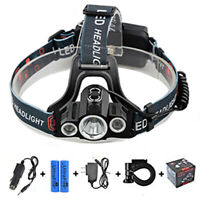 35000Lumen T6 LED Headlamp Headlight Lamp Super Light+2*18650 Battery+2*Charger
