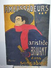 Lithographie de Lautrec. Lithography of Lautrec