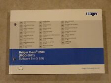 Drager X-am 2500 (MQG 0011) Software 6.n - Gas Detection Instruction Manual