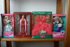 Barbie Dolls Set of 5 Spec. Ed 1990,Barbie 2000,Silver Sweetheart,Hallmark Holid