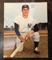 TOM SHOWPAX AUTOGRAPHED SIGNED AUTO BASEBALL PHOTO 8x10 YANKEES
