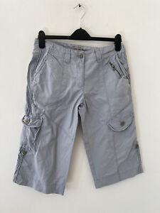 Cherokee Grey Chino Cargo Shorts Size: 10 W: 31 inches