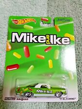 """2013 Hot Wheels Pop Culture """"71 Chevrolet El Camino Green Just Born Mike & Ike"""