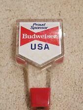 Vintage Budweiser Olympic Sponsor Beer Tap Handle