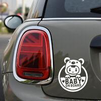 """""""Baby On Board"""" White Auto Car Sticker Window Vinyl Decal Sticker Decals Decor"""