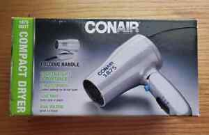 Conair 1875 Watt Hair Dryer, Silver Lightweight & Portable,2 Heats Speeds Cool