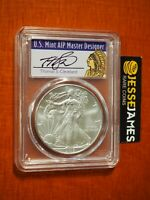 2013 (S) SILVER EAGLE PCGS MS70 STRUCK AT SAN FRANCISCO CLEVELAND SIGNED LABEL