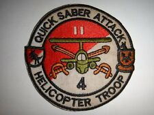 US Army Patch 4th Squadron 11th Armored Cavalry Regiment HELICOPTER TROOP