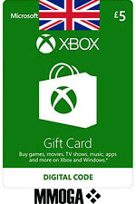 Xbox Live Card - 5 Pound Microsoft Gift Key MS Xbox 360 & One Code 5 GBP £5 [UK]