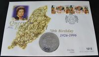 1996 Isle Of Man Queen Elizabeth 70th Birthday FDC | First Day Covers | KM Coins